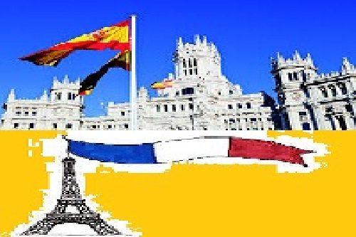 پرچم اسپانیا و فرانسه